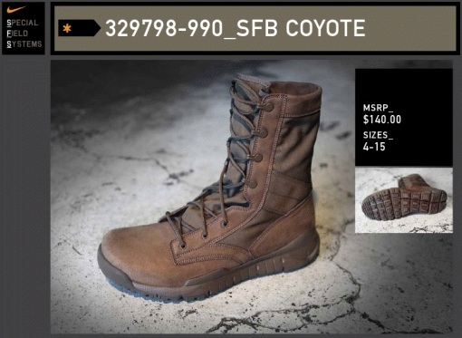 Nike Special Field Boot Coyote Brown SFB